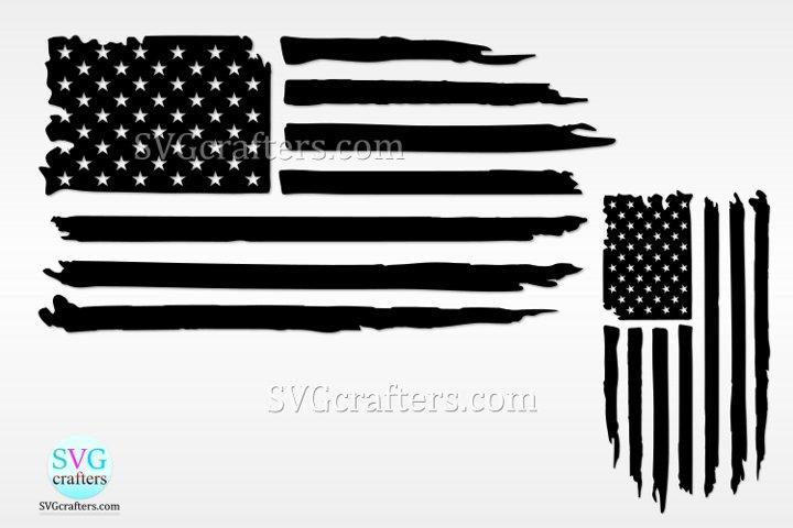 American distressed flag svg, Grunge Flag SVG