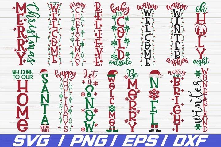 Christmas Porch Signs SVG Bundle / Cut File / Cricut