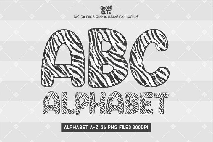 Zebra Skin Doodle Alphabet - Sublimation PNG