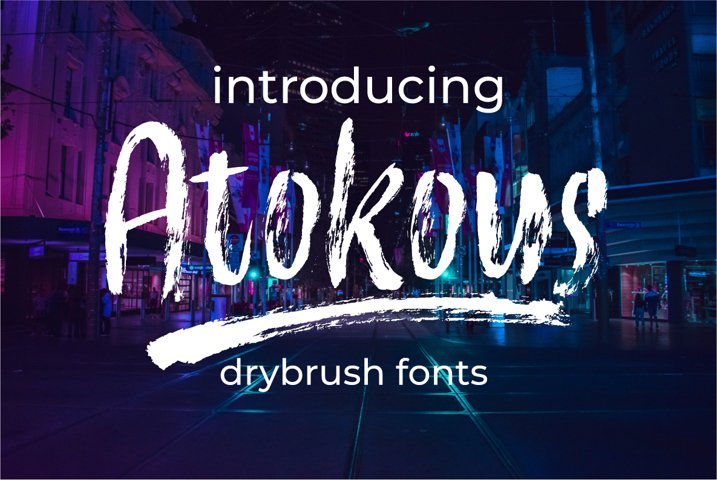 Atokous | Drybrush Fonts