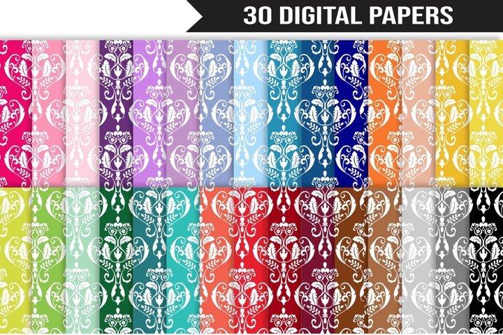 Damask Digital Paper Bundle