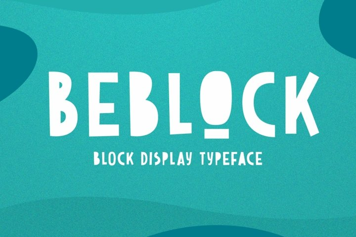 Beblock - Block Display Typeface