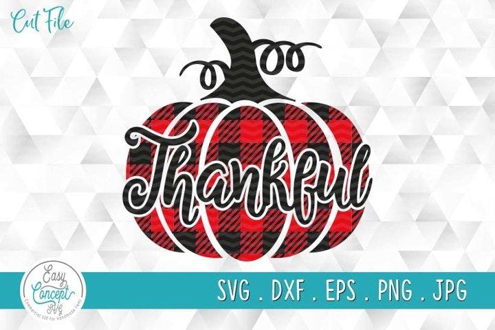 Thankful Pumpkin Fall SVG Cut File