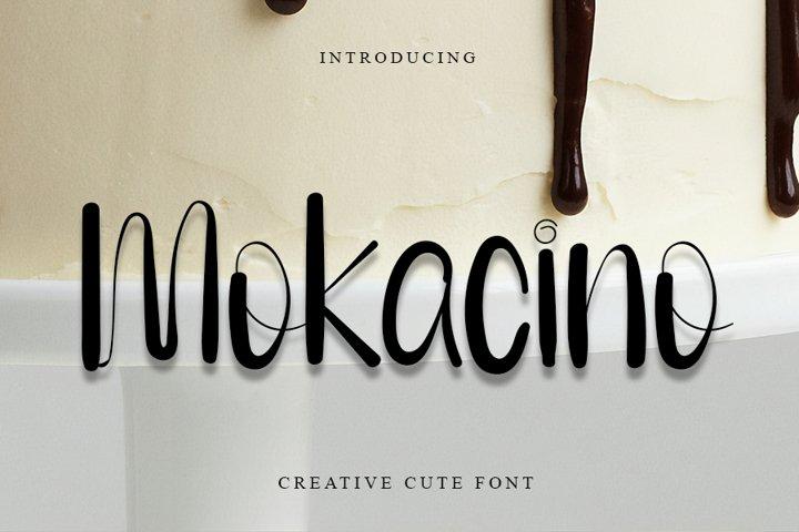 Mokacino - Modern Script Font