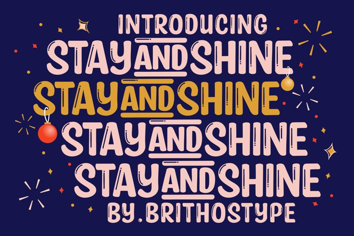 Stay and Shine - Free Font Of The Week Font