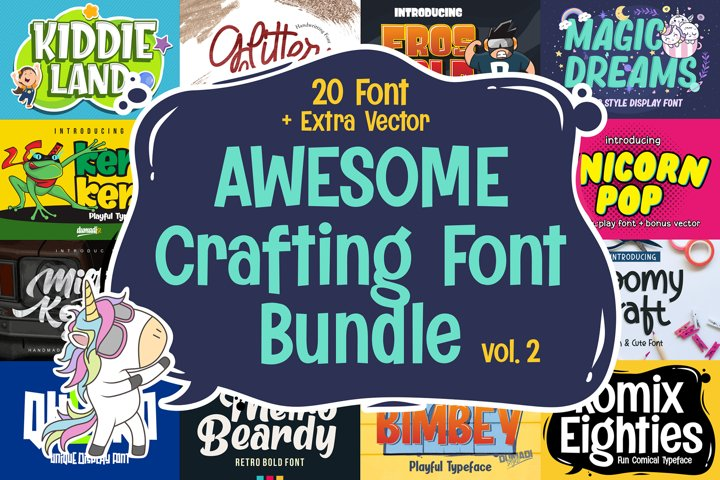 Awesome Crafting Font Bundle Vol. 2
