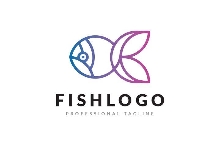 Fish Minimal Logo Template