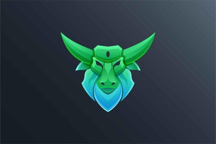 Bull head logo design templates