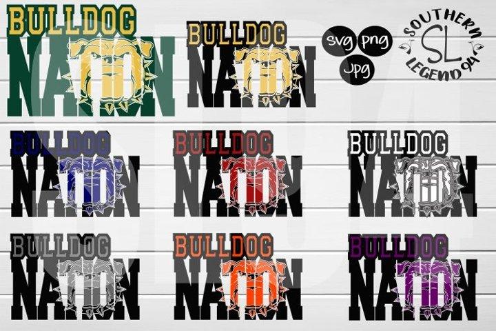 Bulldog Nation 8 set bundle png svg dxf