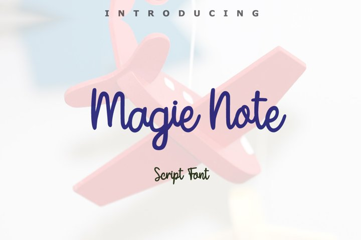 Magie Note Font