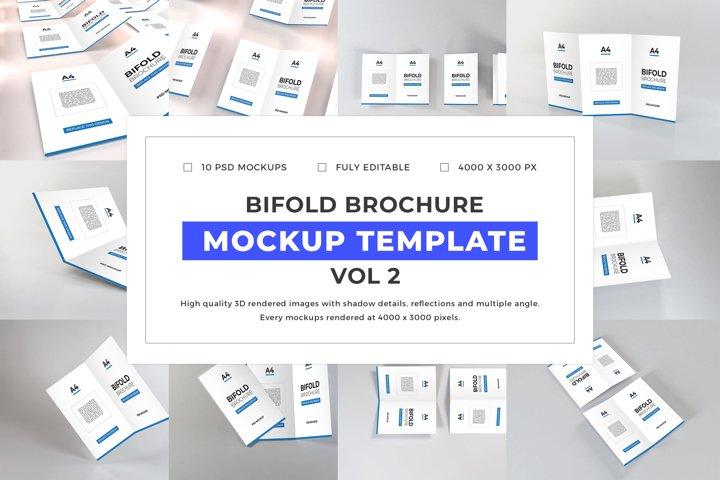 Bifold Brochure Mockup Template Bundle Vol 2