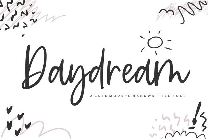 Daydream cute modern handwritten font