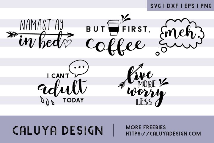 Cheer Up & Relax, SVG Quotes Bundle example