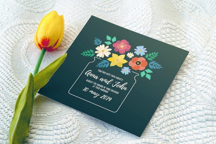 Spring florals Wedding set