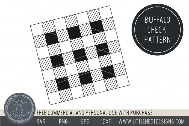Buffalo Check Plaid Pattern Stencil SVG Christmas Plaid SVG