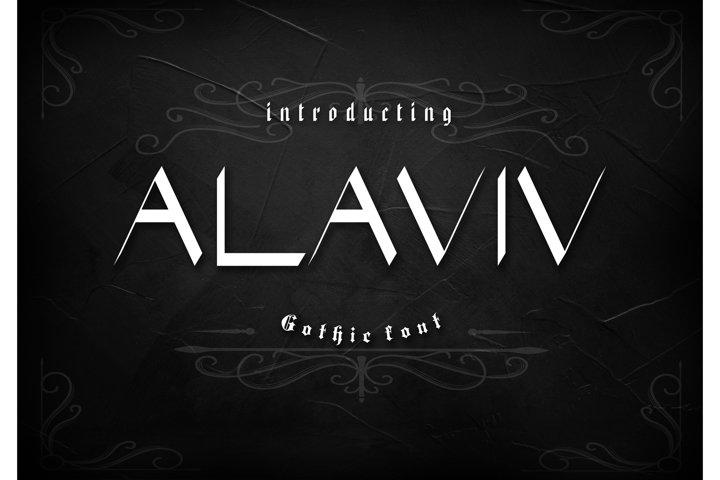 Alaviv Gothic Font