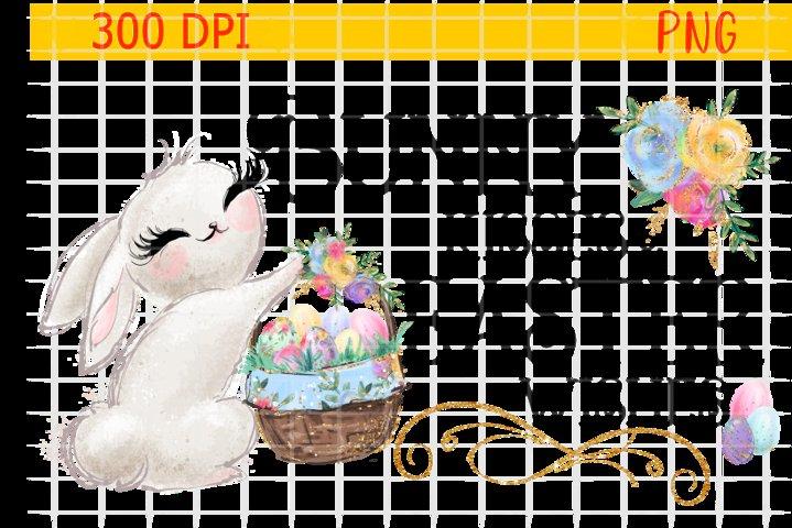 Easter , PNG , Digital, Rabbit