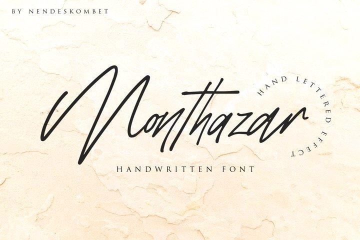 Monthazar - Handwritten font