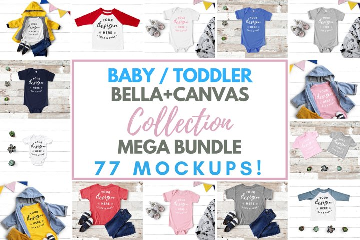 Baby Toddler Bella Canvas Mockup Mega Bundle Kids Apparel