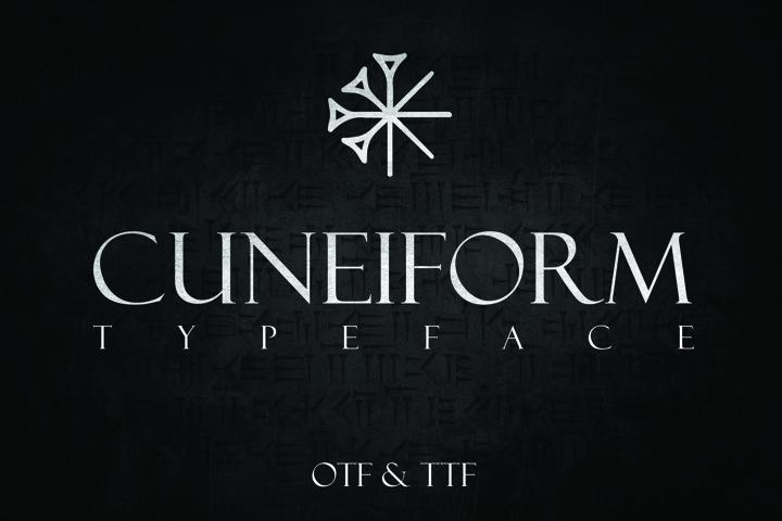 CUNEIFORM, An Ancient Typeface