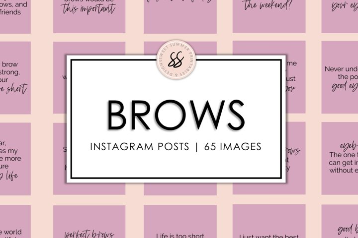 Brows Dusty Rose Instagram Posts