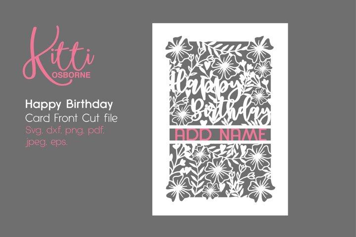 Happy Birthday Card Front