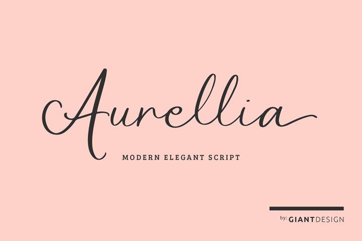 Aurellia Elegant Modern Script Font