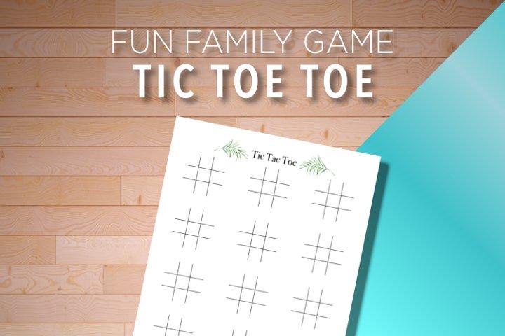 Tic Tac Toe Family Fun Game