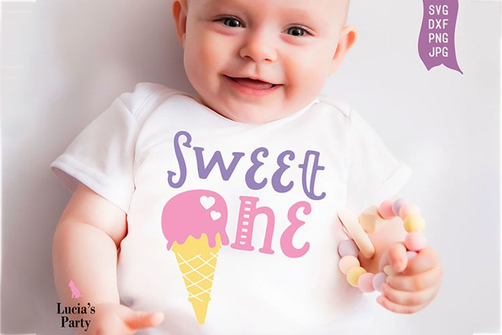 Sweet One SVG DXF PNG JPG