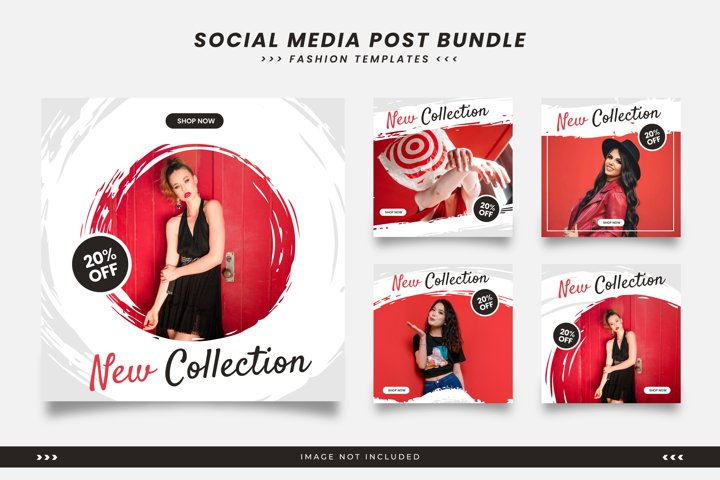 Social media templates for fashion