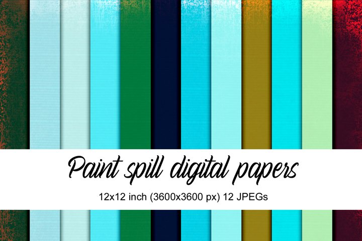 Paint Spill digital papers