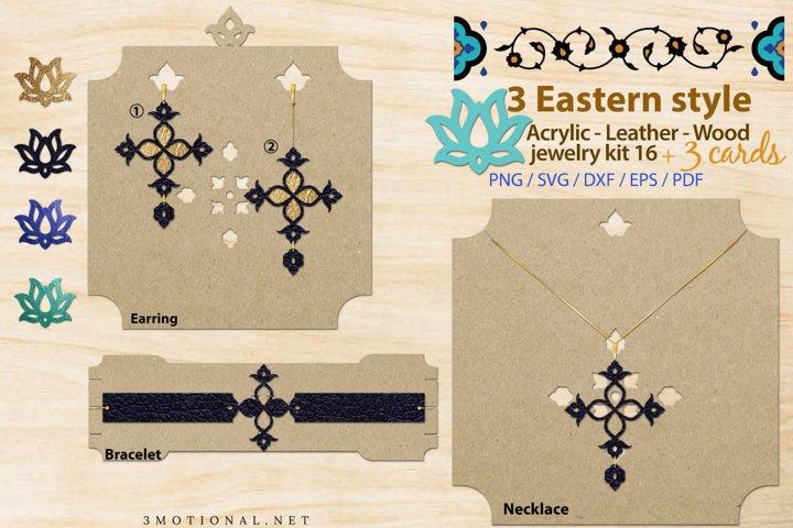 Eastern style acrylic leather wood jewelry kit 16
