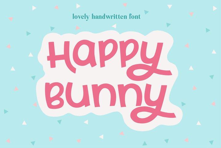 Happy Bunny Handwritten Font
