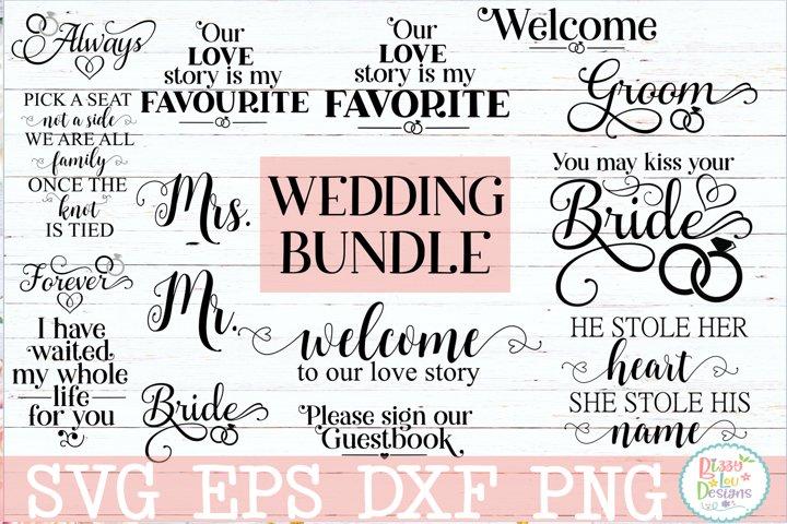 Wedding Bundle SVG Cut file