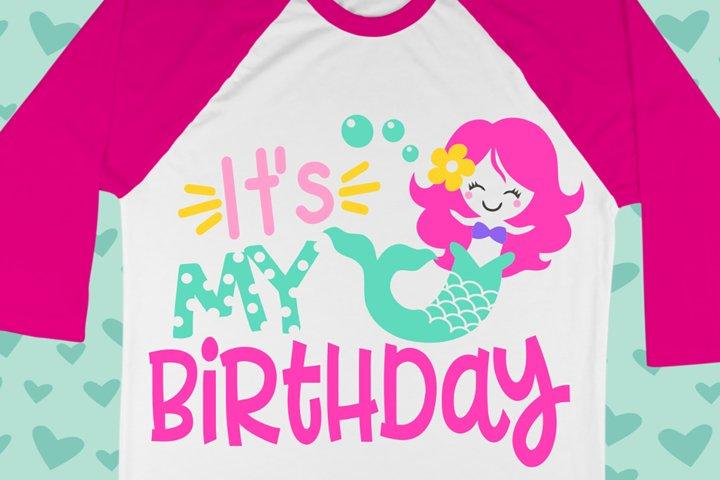 Birthday Mermaid Girl Shirt Svg , kids svg , Summer svg