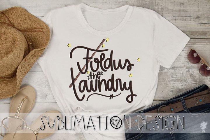 Foldus The Laundry, Hand Lettered Sublimation Design