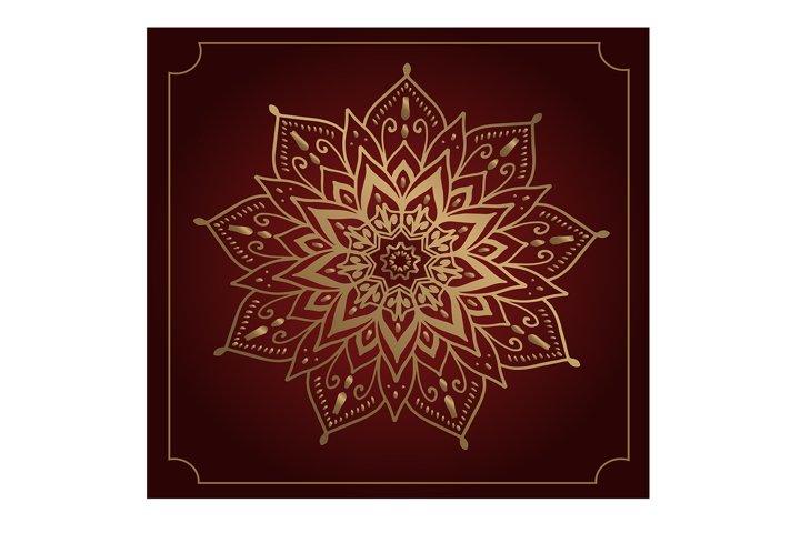 beautiful golden oriental mandala pattern