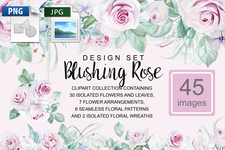 Blushing Rose Design Set