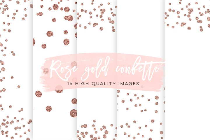 Rose Gold Confetti Overlays, Rose Gold Scrapbook Paper, Gold Paper, Rose Gold Glitter Confetti, Rose Gold Party Backgrounds, Best Selling