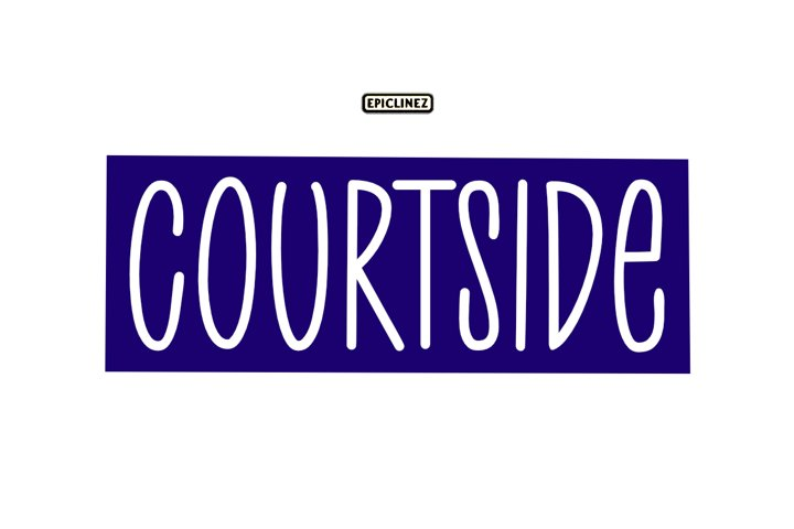 Court Side - A Playful Handwritten Font