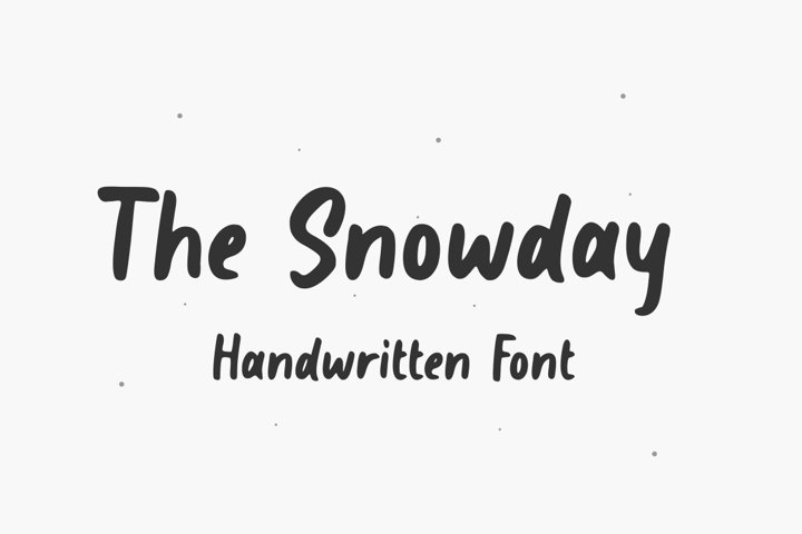 The Snowday - Handdwritten Font