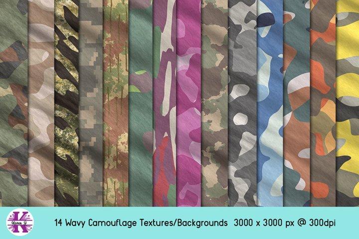 Camouflage Bundle - Backgrounds - Wavy Textures