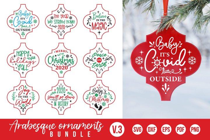 Arabesque Ornaments SVG Bundle Vol.3, Christmas Ornament SVG