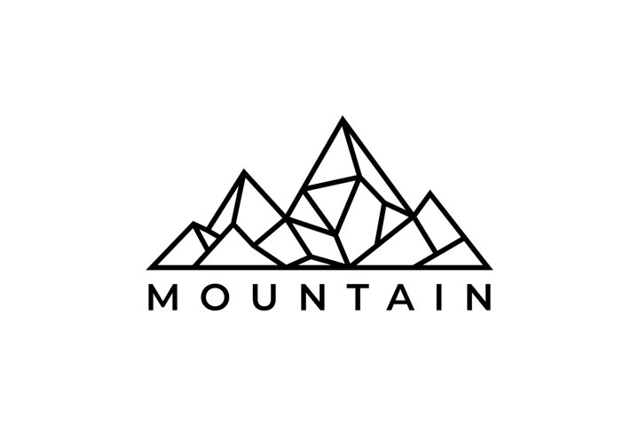 Mountain logo design template