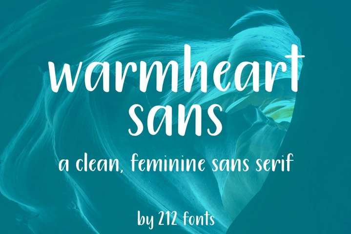 212 Warmheart Sans Serif Clean Handwritten OTF Font