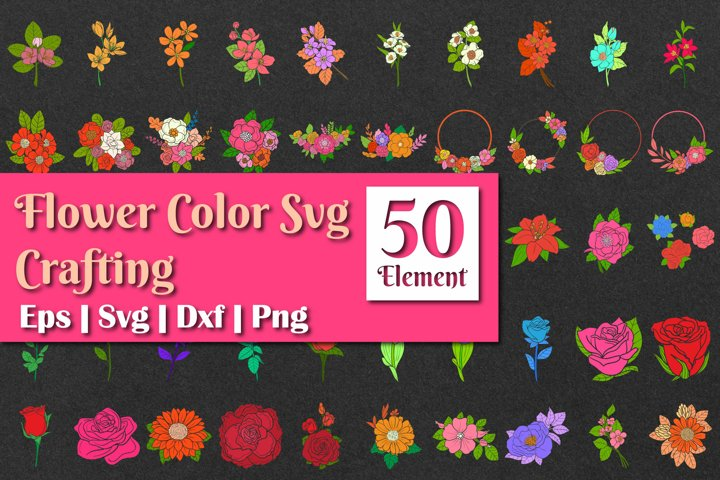 Flower color SVG crafting