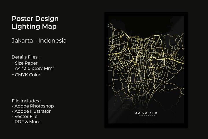 Poster Design Lighting Map Jakarta