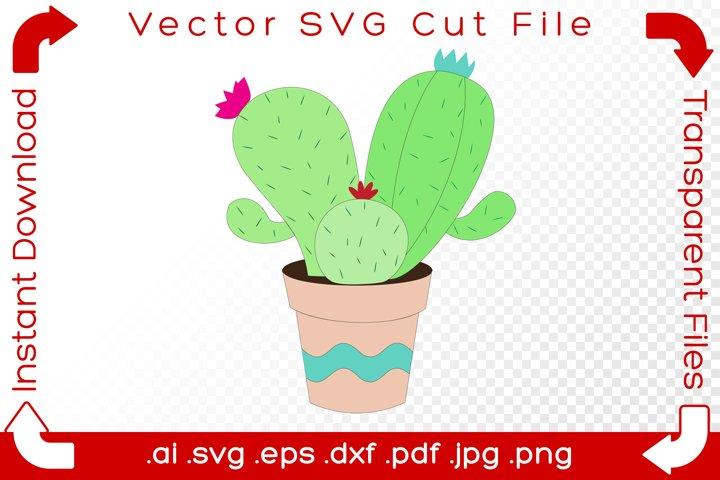 Succulent Cactus SVG Plant - DIY Cartoon Cut File for Makers