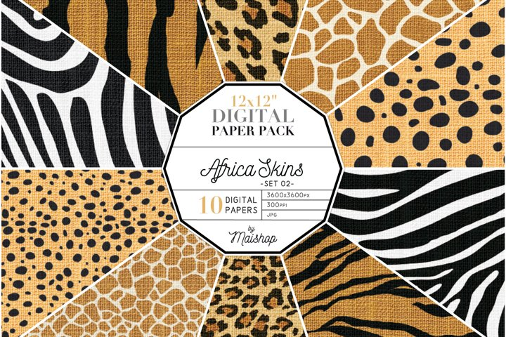Digital Paper Pack Africa Skins Set 02