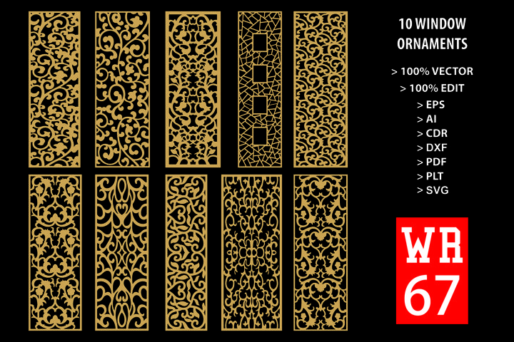 WR 67, Carved Window Ornaments Laser Cutting
